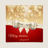 Christmas label. With holidays greeting stock illustration