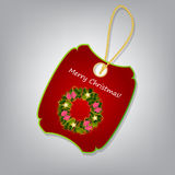 Christmas label  illustration Royalty Free Stock Photography