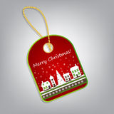 Christmas label  illustration Stock Images