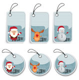 Christmas Label Royalty Free Stock Photography