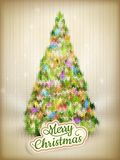 Christmas label on a knitted background. EPS 10 Stock Photos