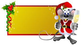 Christmas label Rat Royalty Free Stock Photography