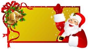 Christmas label Santa Claus stock images