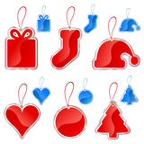 Christmas label set Stock Photos