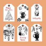 Christmas label set Stock Image
