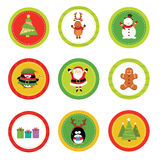 Christmas Label Set Royalty Free Stock Photo