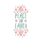 Christmas label with text on white background Royalty Free Stock Images