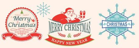 Christmas Label Stock Image