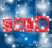Christmas label vector illustration Royalty Free Stock Photos