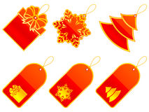 Christmas labels. Stock Images
