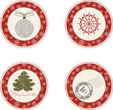 Christmas labels. Vintage Christmas labels for Chrismas sale Royalty Free Stock Photos