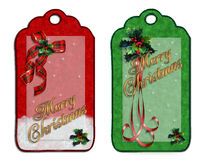 Christmas labels royalty free stock images