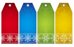 Christmas  labels,  Royalty Free Stock Images