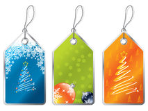 Christmas labels 2 Stock Image