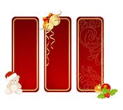 Christmas labels Stock Photo