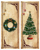 Christmas labels Stock Image