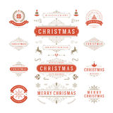 Christmas Labels and Badges Vector Design Royalty Free Stock Photos
