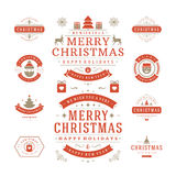 Christmas Labels and Badges Vector Design Stock Photo