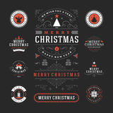 Christmas Labels and Badges Vector Design Royalty Free Stock Image