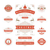 Christmas Labels and Badges Vector Design Royalty Free Stock Photo