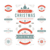 Christmas Labels and Badges Vector Design Royalty Free Stock Images