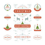 Christmas Labels and Badges Vector Design Stock Image
