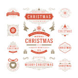 Christmas Labels and Badges Vector Design Royalty Free Stock Photography