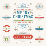 Christmas Labels and Badges Vector Design Elements Set. Royalty Free Stock Photos