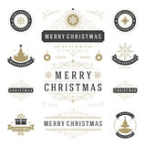 Christmas Labels and Badges Vector Design Elements Set. Stock Images