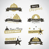 Christmas labels and banner Stock Photography