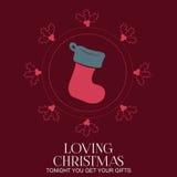 Christmas Labels - Christmas Socks Stock Photos