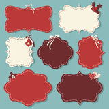 Christmas Labels Collection Stock Photos