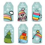 Christmas labels collection vector illustration