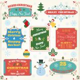 Christmas labels colored set Stock Photos