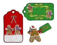 Christmas labels cookies and candy royalty free stock images