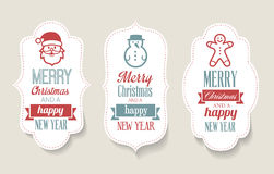 christmas labels decorations stock illustration - Decorative Christmas Labels