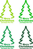 Christmas labels and decorations Royalty Free Stock Image
