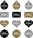 Christmas labels and decorations Royalty Free Stock Photo