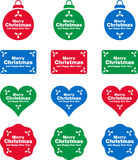 Christmas labels and decorations Royalty Free Stock Images