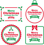 Christmas labels and decorations. This is a set of different Christmas Labels and Decorations Royalty Free Stock Images