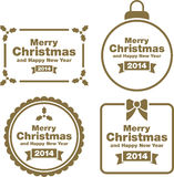 Christmas labels and decorations. This is a set of different Christmas Labels and Decorations Royalty Free Stock Photography