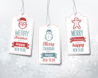 Christmas Labels - Decorations Royalty Free Stock Photo