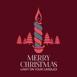 Christmas Labels - Decorative Candles Stock Photo