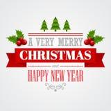 Christmas labels, emblems,  decorative elements. Vector illustration EPS 10 Stock Photos
