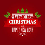 Christmas labels, emblems,  decorative elements. Vector illustration EPS 10 Stock Image