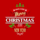 Christmas labels, emblems,  decorative elements. Vector illustration EPS 10 Stock Photo