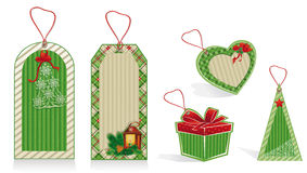 christmas labels green Stock Image