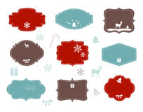 Christmas Labels. With holiday symbols and blank space for your text Royalty Free Stock Photo