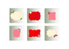 Christmas labels icons set Stock Image