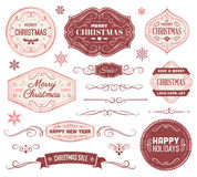 Christmas Labels and Ornaments Stock Photography